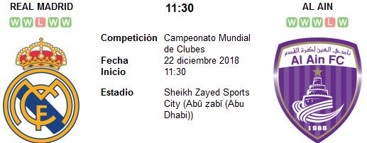 Real Madrid vs Al Ain en VIVO