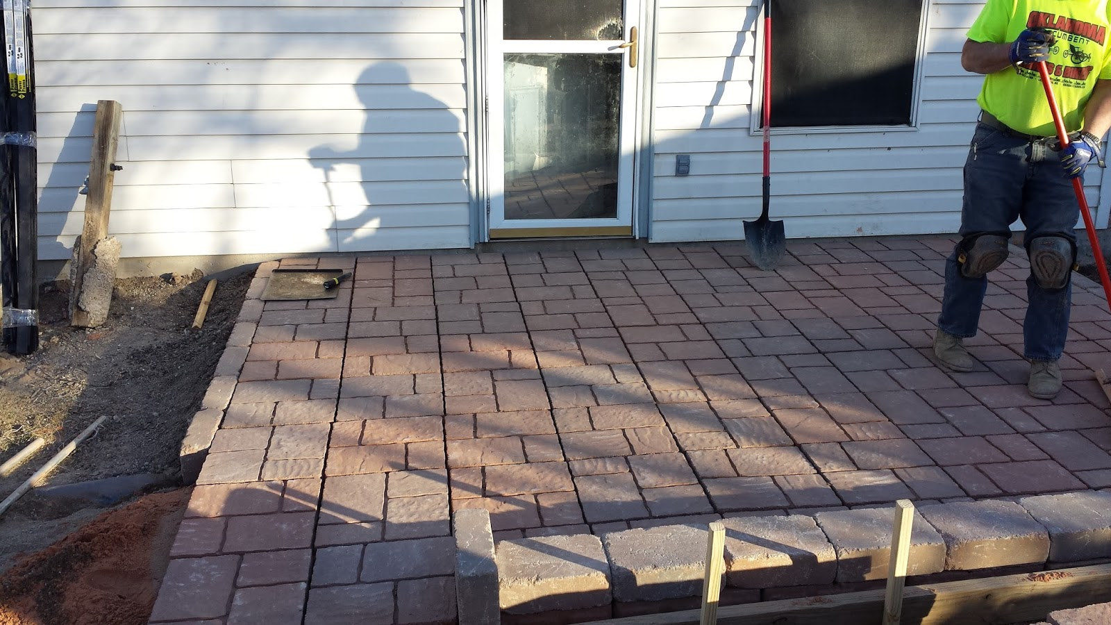 Good ... Paver Patio Part 3 Equals 3 Trips To Patio Pavers Lowes Tomorrow We  Will Finish Laying ...