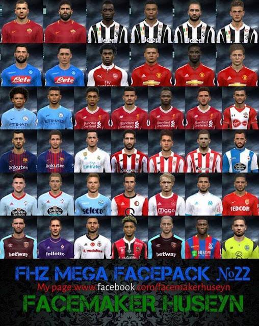 FHZ Mega Facepack No. 22 PES 2017