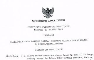 Pergub No. 19 Tahun 2014, Pelaksanaan Bahasa Jawa di Jawa Timur