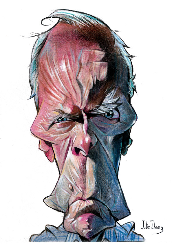"""Clint Eastwood"" por Julio Ibarra"