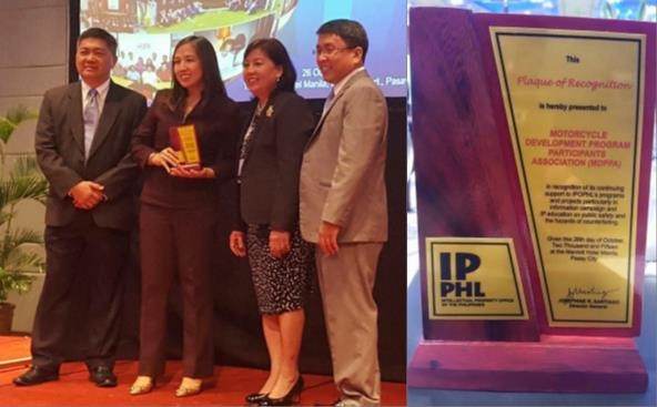 MDPPA is proud recipient of Intellectual Property Champion award