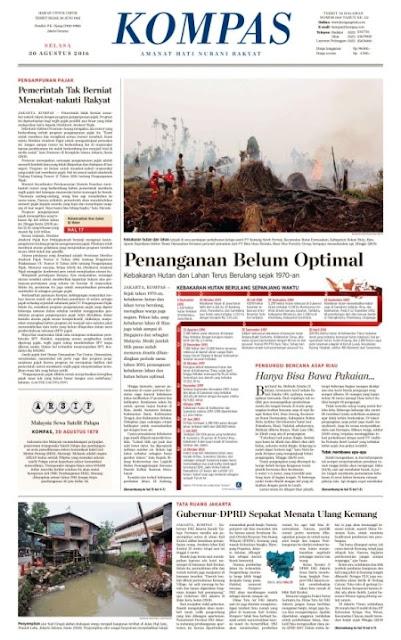 Kompas Edisi Selasa 30 Agustus 2016