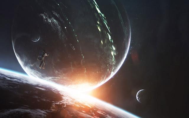 Papel de Parede PC Tumblr Astronauta Perdido no Espaço.