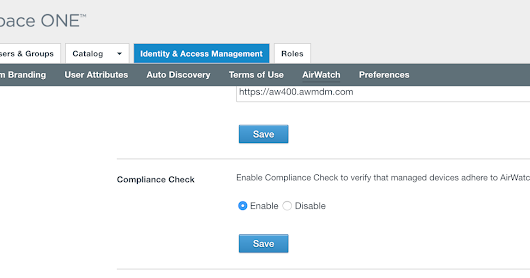 Securing Access To Horizon Through AirWatch Based Device Compliance