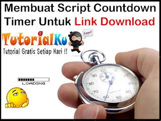 Membuat Script Countdown Timer Untuk Link Download
