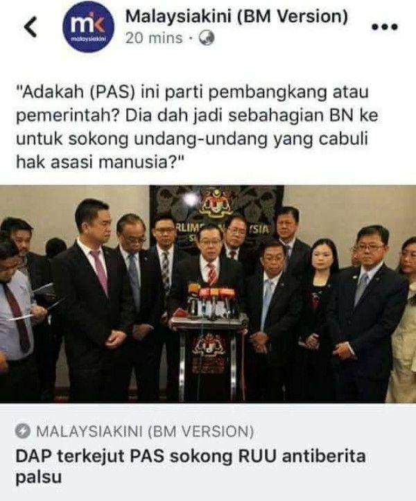 DAP 'Bengang' Gagal Perkuda PAS