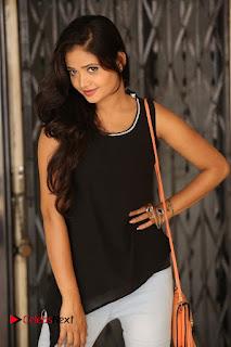 Actress Shreya Vyas Latest Pictures in Ripped Jeans Kevvu Kabaddi Tournament Press Meet  0062