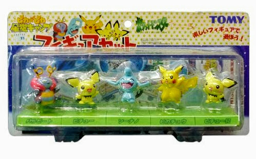 Pichu Pichu brother figures Tomy Monster Collection 2002 Movie set