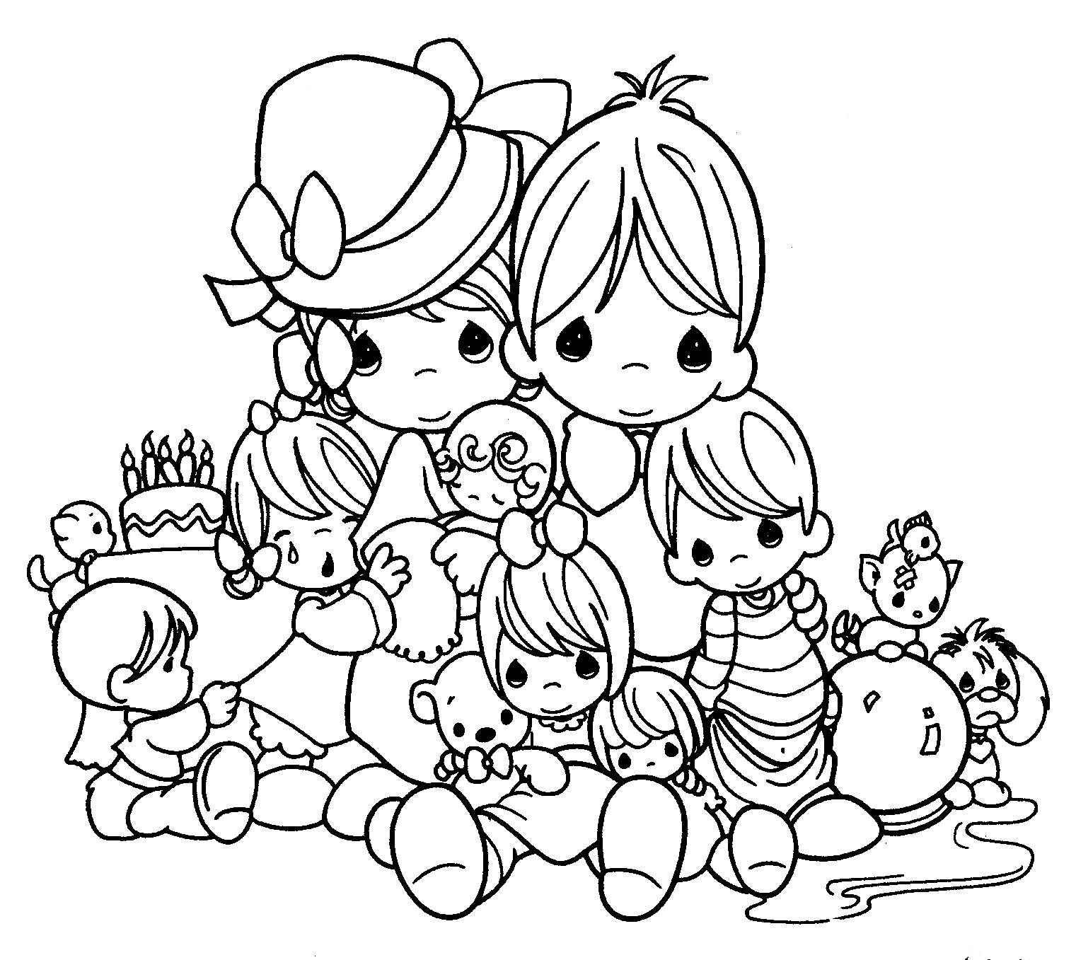 precious moment family coloring pages - photo#15
