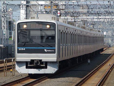 【急行線通過も終わり】小田急 準急 新宿行き3000形