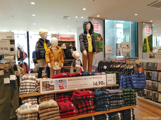 Uniqlo Amsterdam store kids fashion