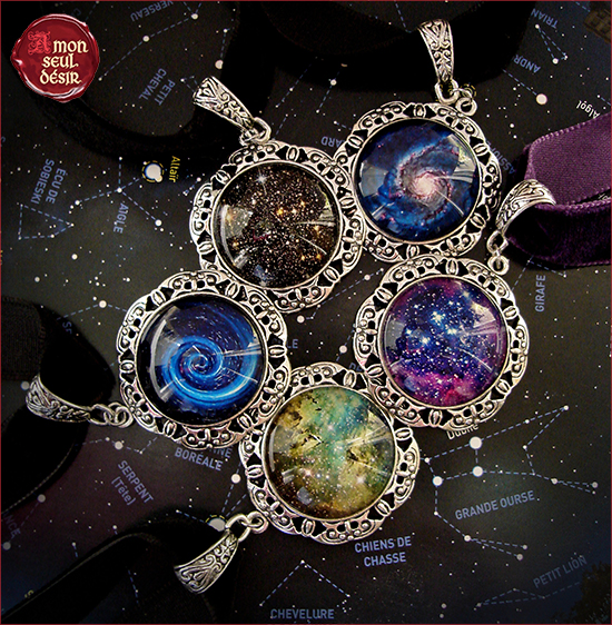 collier galaxie espace planete cosmique etoile nebuleuse voie lactee galaxy necklace cosmos cosmic jewelry space planet nebula bigbang stars supernova milky way