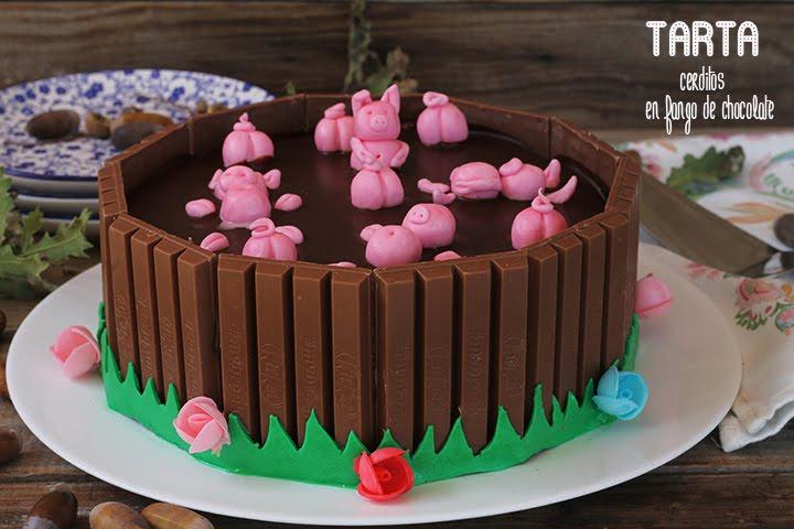 Tarta Cerditos En Fango De Chocolate El Jardín De Mis Recetas
