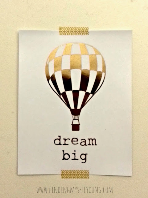 Papercake dream big gold foil print