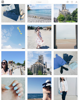 Clothes & Dreams: Instadiary: blue Instagram feed