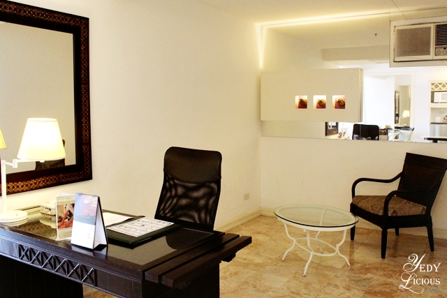 Spacious Working Area at the Premiere Suite Vivere Hotel