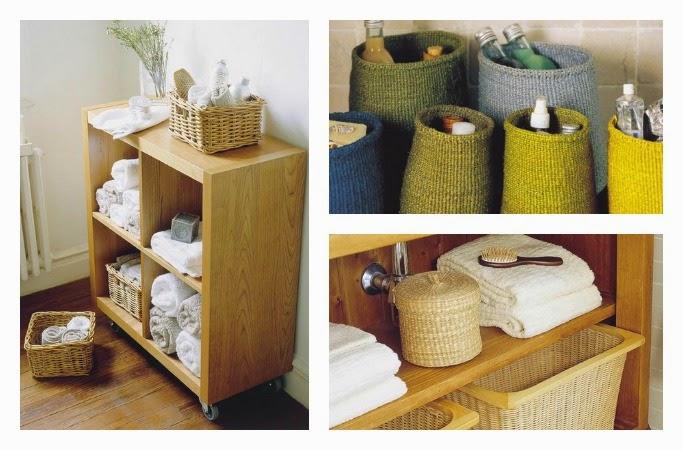 Mi rinc n de sue os ideas para organizar con cestas de mimbre for Mueble para ropa sucia