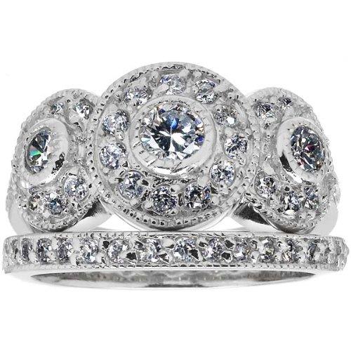 Vintage Wedding Ring Set 13