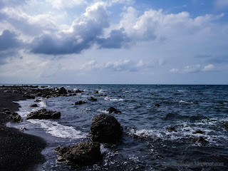 Cinematic Look Rocky Beach Scenery Of The Village At Umeanyar Beach, North Bali, Indonesia