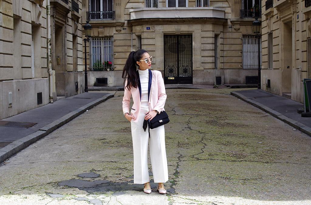 Elizabeth l  Rockstud Valentino Zara white Chanel Maje  l THEDEETSONE l http://thedeetsone.blogspot.fr