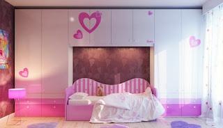 habitación con corazones