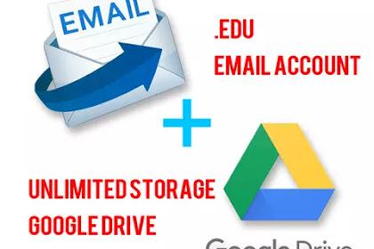 Cara membuat email edu support googledrive unlimited