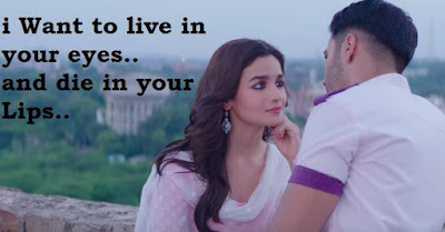 "2 Line Status in hindi - Cute Love status ""I want to live in your eyes"""