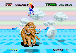 Space Harrier gameplay