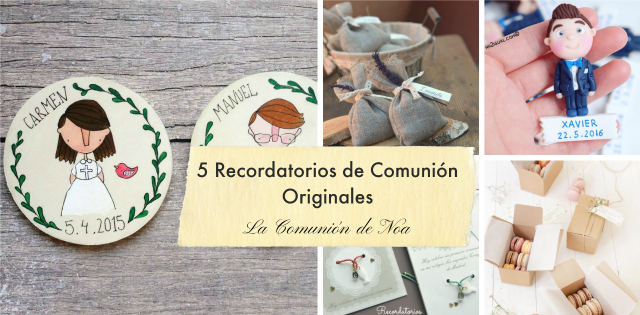 recordatorios de comunion originales - blog la comunion de noa