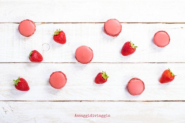 Macarons alle fragole ed aceto balsamico