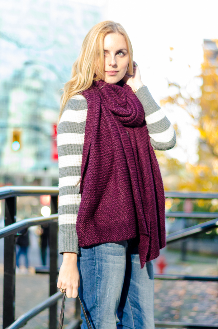 How to style blanket scarf, winter outfits