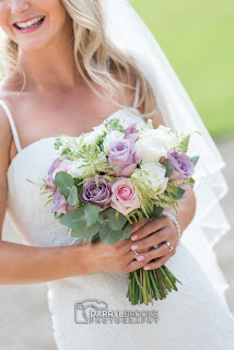 Bride Jemima with bouquet