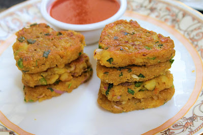 cutlet for breakfast, snack recipe , healthy cutlets