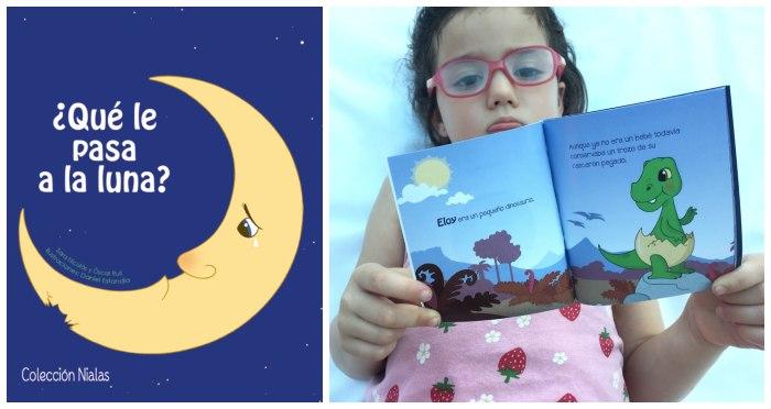 mini libros cuentos formato pequeño snacks tragamanzanas, ¿qué le pasa a la luna?