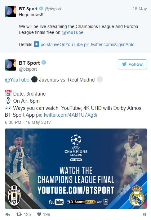 Real Madrid Vs Juventus Live Stream : madrid, juventus, stream, Watch, Champions, League, Final, Live:, Madrid, Juventus