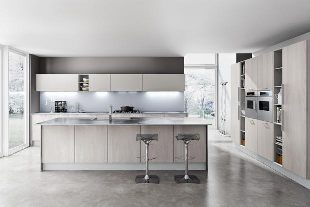 cuisine bois et inox. Black Bedroom Furniture Sets. Home Design Ideas