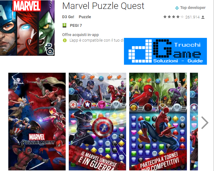 Trucchi  Marvel Puzzle Quest Mod Apk Android v90.321807