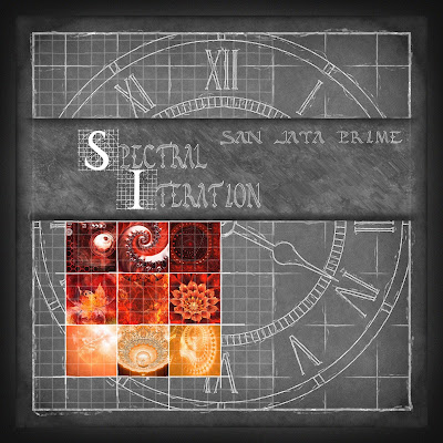 cover art: red and orange fractals on a chalkboard clock