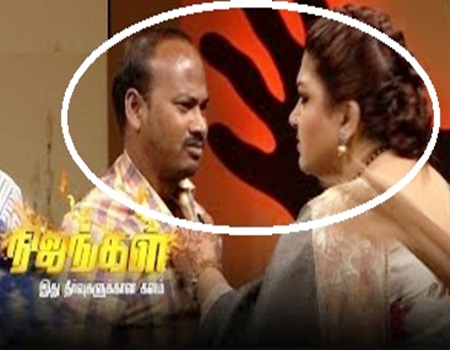 Kushboo gets Angry Over a Man's Verbal Abuse | Nijangal Sun Tv
