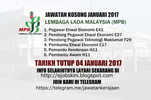 Jawatan Kosong Lembaga Lada Malaysia 2017