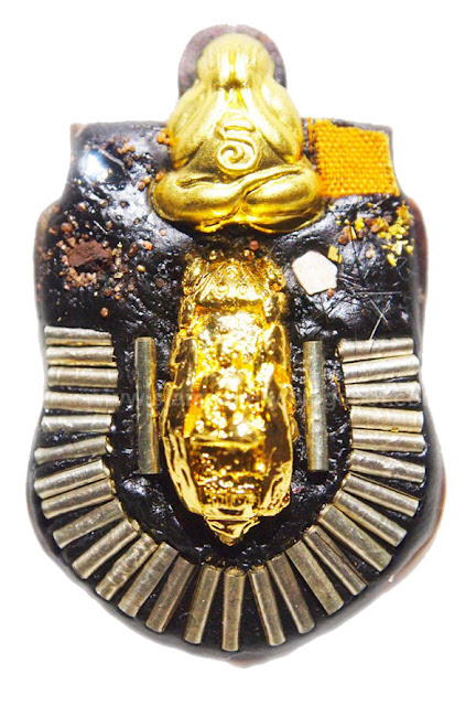Powerful Phra Pidta (Covered Eye Buddha) One Eye Coconut Amulet - Hand Engraved With Special Magical Symbols
