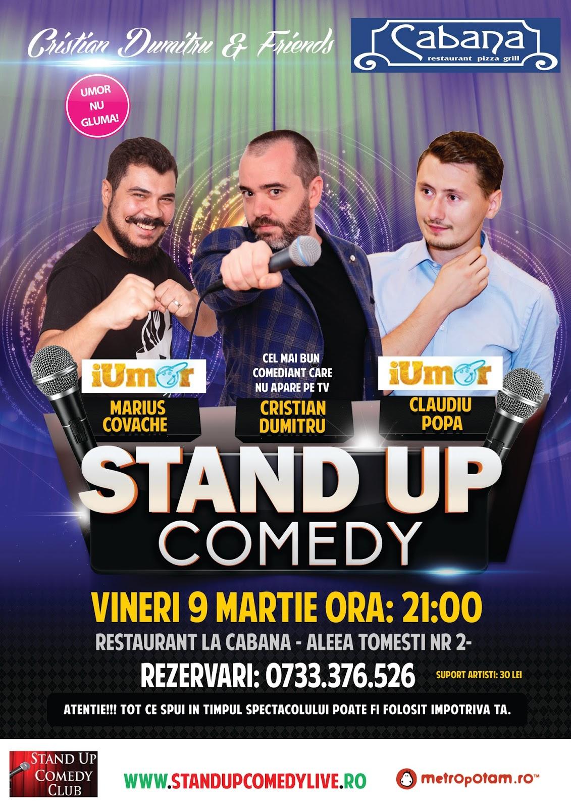 Stand-Up Comedy Vineri 9 Martie Bucuresti