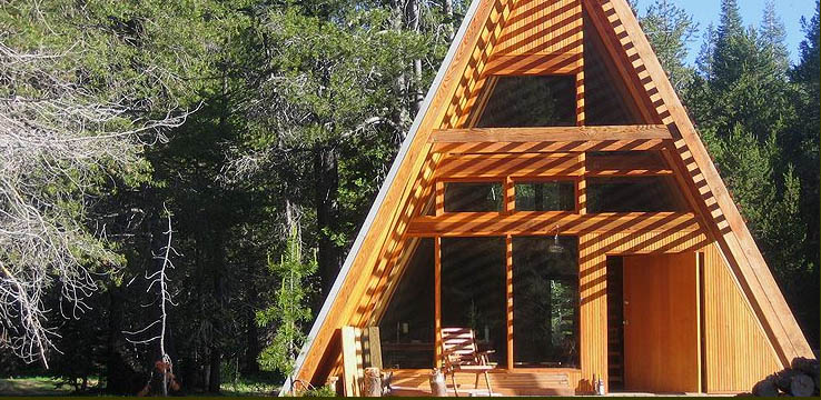 If it 39 s hip it 39 s here archives rustic meets modern at for Rustic a frame cabin