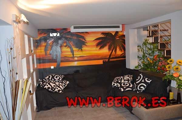 Berok Graffiti Mural Profesional En Barcelona Graffiti De Salon De Casa - Graffitis-en-casa