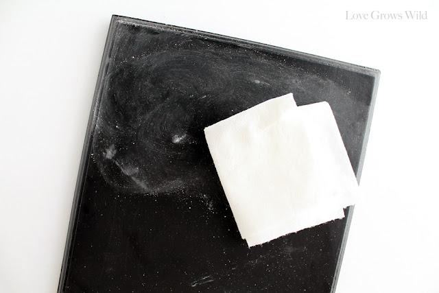 Easy Vinyl Chalkboard Art at www.lovegrowswild.com #chalkboard #silhouette
