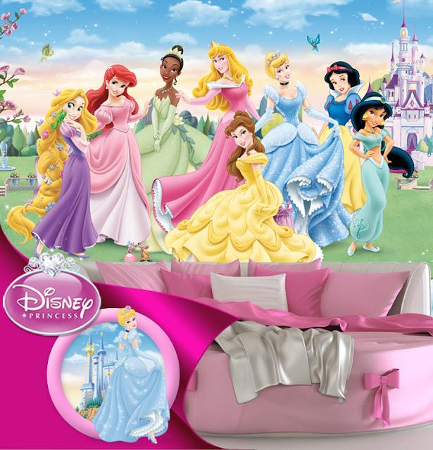 fototapet barn tapet barnrum prinsessor disney tapet tjejtapet