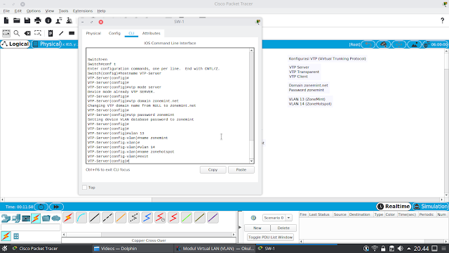 Setting Vlan ID dan Name Cisco Packet Tracer