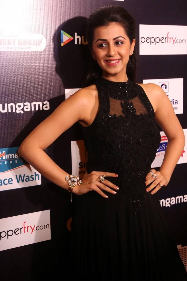 Glamorous Nikki Galrani Hot Photos In Black Dress