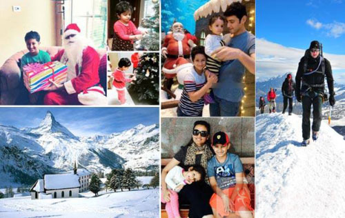 Image result for mahesh babu with wife and childrens